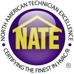 NATE Certified for Home HVAC installation.